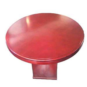 Mahogany round boardroom table
