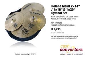 "Roland Meinl 2×14"" / 1×16"" & 1×20"" Cymbal Set"