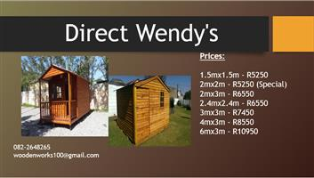 Direct Wendys : Wendy Houses, Garden Tool Sheds, Log Cabins & Guard Huts