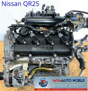 Imported used NISSASN PRIMERA ALTIMA XTRAIL 2.5L, QR25 NEW engine Complete