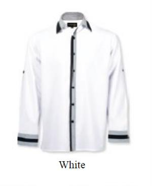 Mens Maitre D' Lounge Shirt - White