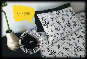 Black and white 3/4 Bed set