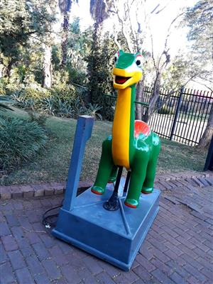 Coin opperated dinosaur kiddy ride for sale