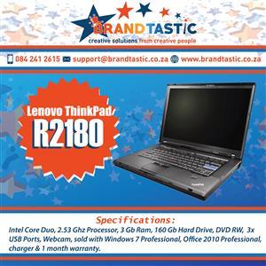 Blazing-fast Lenovo Thinkpad T500 Laptop @ R2180
