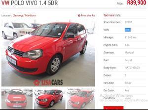 2014 VW Polo Vivo sedan