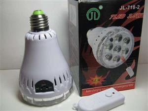 Rechargeable LED Emergency Light Bulbs with a Remote Control. Brand New Products.