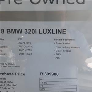 2018 BMW 3 Series 320i Luxury auto