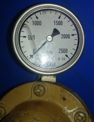 Wika Liquid Filled Pressure Gauge PLUS RegO Compressed Gas Regulator