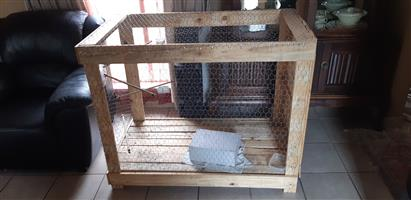 Large Homemade Bird or Rabbit cage FOR SALE @ R850 it's a steal!!!