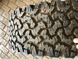 For Sale BF Goodrich All Terrain Tyre