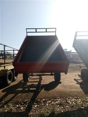 Red Verrigter 5 Ton Tip Trailer / 5 Ton Tip Wa New Trailer