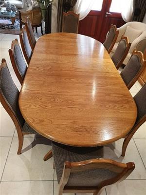 Solid light oak wood Dining Room suite
