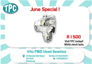 Mercedes Vito FWD Used Gearbox for Sale  at TPC