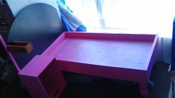 Pink pet bed