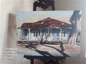 Front house original oil painting for sale