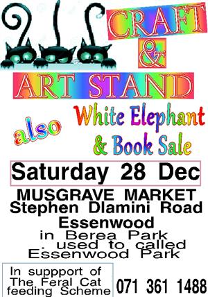 for craft and art supplies come to the Musgrave Market Sat 28 Dec