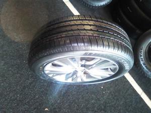19 inch Lexus rim and brand new 235/55/19 Bridgestone x1 tyre for R4000.