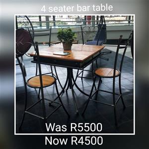 4 Seater bar table for sale