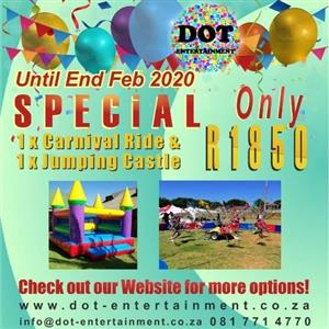 Kids carnival rides and equipment for hire