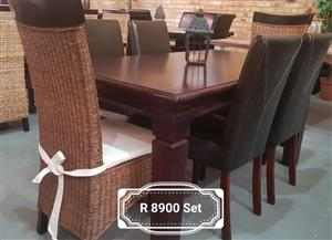6 Seater wooden dining suite