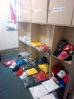 170g Golf shirts from R55 Each, Gym Wear, Corporate Promotional Wear, Ladies Crop tops, Kids t-shirts and more