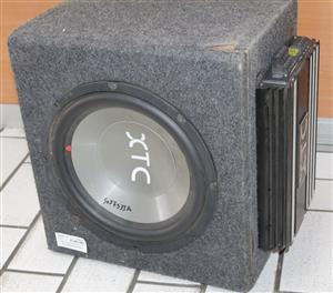 XTC sub and 6000w amplifier S037533A #Rosettenvillepawnshop
