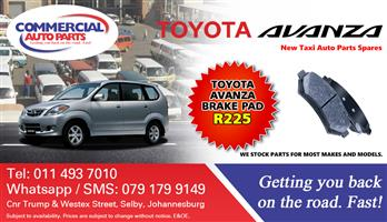 Brake Pads For Toyota Avanza For Sale.