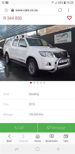 2015 Toyota Hilux double cab HILUX 3.0 D 4D RAIDER 4X4 A/T P/U D/C