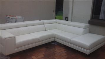 Full leather  lounge suite