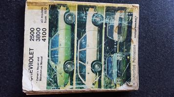 CHEVROLET 2500 3800 4100 softcover manual