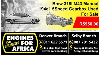 Bmw 318i M43 194e1 5speed Manual Gearbox For Sale