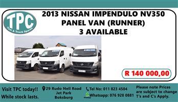 2013 Nissan NV350 panel van 2.5i