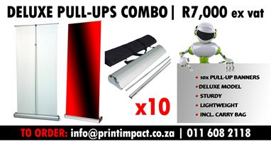 10x Deluxe Pull Up Banners on SPECIAL - Fast turnaround times