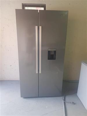 Silver double door fridge