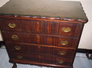 Ball and Claw four drawer chest of drawes