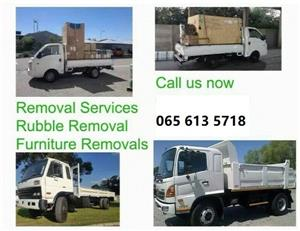 Demolition / Furniture removals / Rubble Removal / Bakkie for hire