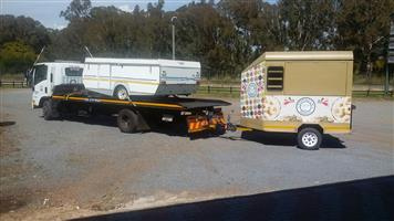 Trailer Transport Mosselbay, George, Port Elizabeth to Pretoria. Horse Box, Rubber duck, Jurgens Caravan & Boat Transport.