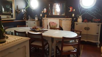 Beautiful ball and claw dining room suite plus several other pieces of furniture R9 000 for all! (Reduced from R15 000)