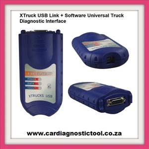 Truck Diagnostic: XTruck USB Link + Software Universal Truck Diagnostic Interface with All Adapters