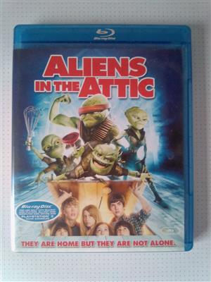 "Blu-ray DVD Movie ""Aliens in the Attic"". As well as other Movies and Music Blu-ray DVD's R60 each. Please WhatsApp me for List of them. I am in Orange Grove."