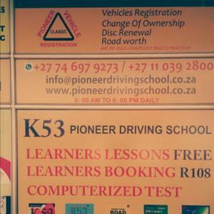 PIONEER DRIVING SCHOOL IN RANDBURG LEANERS LICENCE ,DRIVING LESSONS AND  DRIVERS TEST