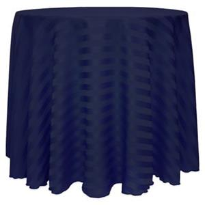 Damask Table cloths - 330cm Round - Navy blue
