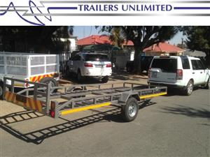 TRAILERS UNLIMITED OPEN DECK SINGLE 1500KG BRAKED AXLE CAR TRAILER.