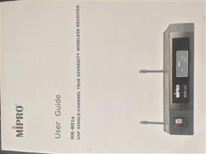 Mipro MR-801 Wireless Mic with Receiver