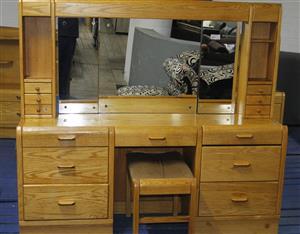 3 PIECE BEDROOM SUITE WITH MATRESS S038479A #Rosettenvillepawnshop