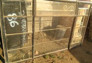 7 Window frame,  with glass and burglar