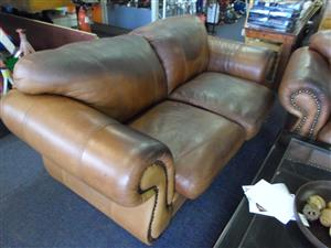 3,2,1 Leather Lounge Suite