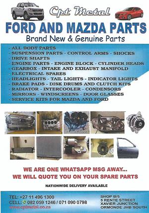 FORD AND MAZDA SPARES | Junk Mail