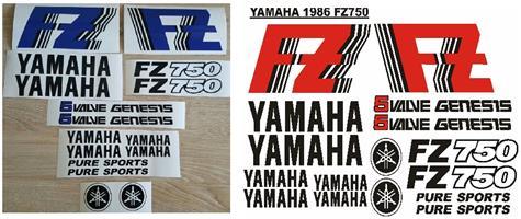 1986 Yamaha  FZ 750 Genesis stickers decal kits.