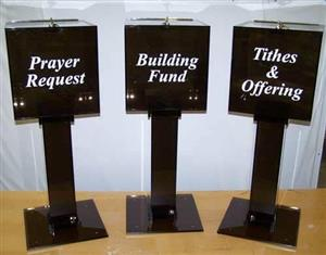 offering, tithe funding donation boxes up  for grabs